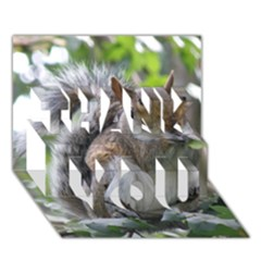 Gray Squirrel Eating Sycamore Seed Thank You 3d Greeting Card (7x5) by GiftsbyNature