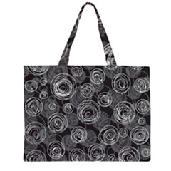 Gray abstract art Large Tote Bag by Valentinaart