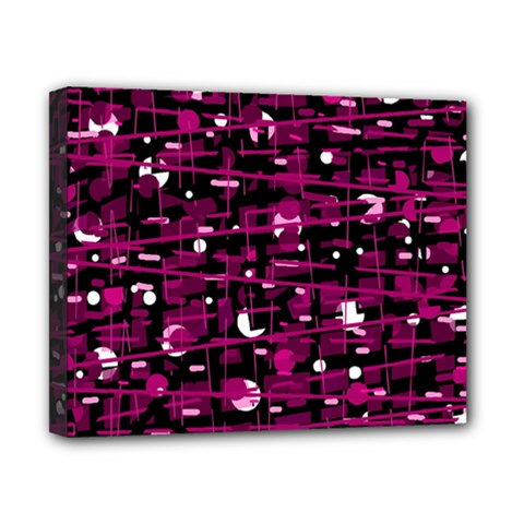 Magenta Abstract Art Canvas 10  X 8  by Valentinaart