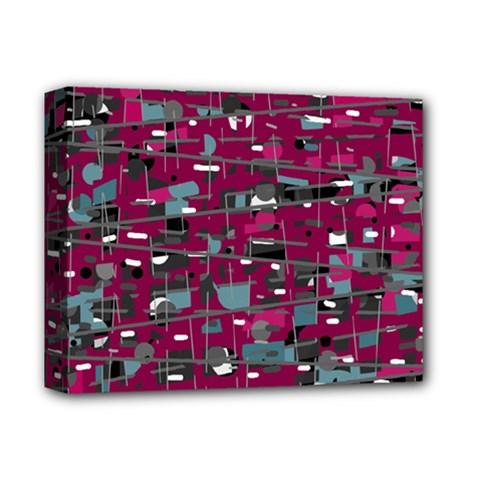 Magenta Decorative Design Deluxe Canvas 14  X 11  by Valentinaart