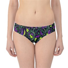Purple and yellow decor Hipster Bikini Bottoms