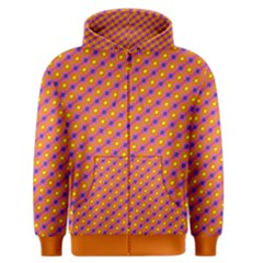 Vibrant Retro Diamond Pattern Men s Zipper Hoodie by DanaeStudio