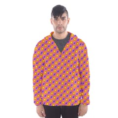Vibrant Retro Diamond Pattern Hooded Wind Breaker (men) by DanaeStudio