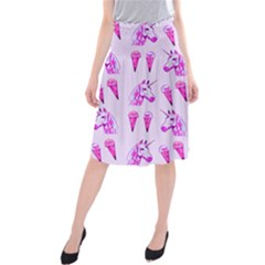Unicorns & Icecreams In Mallow Wildflower Midi Beach Skirt by fashionnarwhal