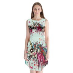Zombie Unicorn Sleeveless Chiffon Dress