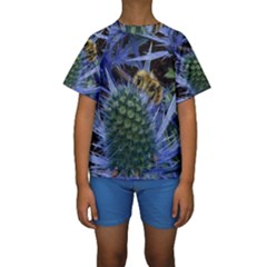 Chihuly Garden Bumble Kids  Short Sleeve Swimwear by Zeze