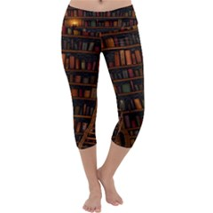 Books Library Capri Yoga Leggings