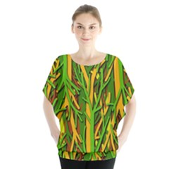 Upside-down forest Blouse by Valentinaart