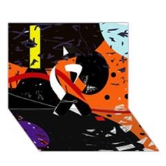 Orange Dream Ribbon 3d Greeting Card (7x5) by Valentinaart