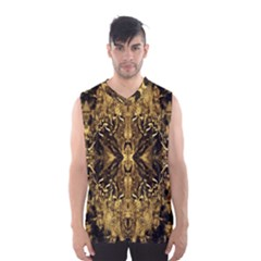 Beautiful Gold Brown Traditional Pattern Men s Basketball Tank Top by Costasonlineshop