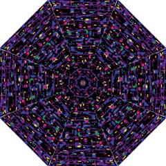 Purple Galaxy Folding Umbrellas by Valentinaart