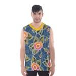 Floral Fantsy Pattern Men s Basketball Tank Top