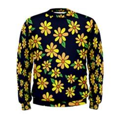 Daisy Flower Pattern For Summer Men s Sweatshirt by BubbSnugg