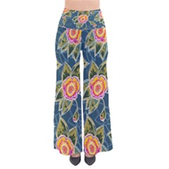 Floral Fantsy Pattern Women s Chic Palazzo Pants  by DanaeStudio