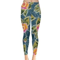 Floral Fantsy Pattern Leggings  by DanaeStudio