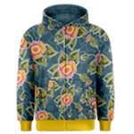 Floral Fantsy Pattern Men s Zipper Hoodie