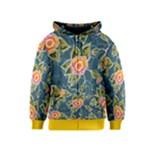 Floral Fantsy Pattern Kids  Zipper Hoodie