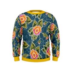 Floral Fantsy Pattern Kids  Sweatshirt by DanaeStudio
