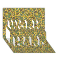 Modern Abstract Ornate Pattern Work Hard 3d Greeting Card (7x5) by dflcprints