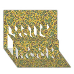 Modern Abstract Ornate Pattern You Rock 3d Greeting Card (7x5) by dflcprints