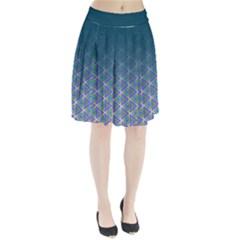 Ombre Retro Geometric Pattern Pleated Skirt by DanaeStudio