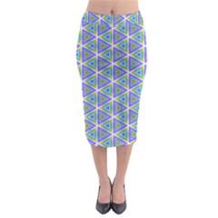 Colorful Retro Geometric Pattern Midi Pencil Skirt by DanaeStudio