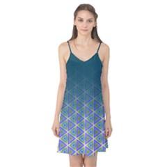 Ombre Retro Geometric Pattern Camis Nightgown  by DanaeStudio