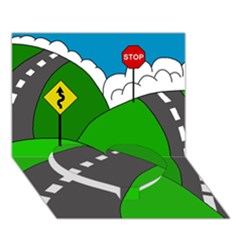 Hit The Road Heart Bottom 3d Greeting Card (7x5) by Valentinaart