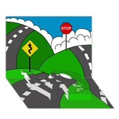 Hit The Road Love Bottom 3d Greeting Card (7x5) by Valentinaart