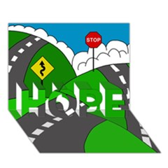 Hit The Road Hope 3d Greeting Card (7x5) by Valentinaart