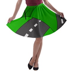 Hit The Road A Line Skater Skirt by Valentinaart