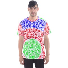 Fractal Spaceblues Men s Sport Mesh Tee