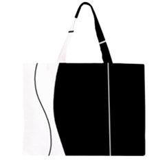 White and black 2 Large Tote Bag by Valentinaart
