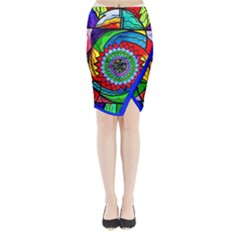 I Trust Myself to Create - Midi Wrap Pencil Skirt by tealswan