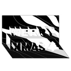 White And Black Decorative Design Merry Xmas 3d Greeting Card (8x4) by Valentinaart