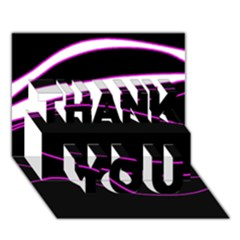 Purple, White And Black Lines Thank You 3d Greeting Card (7x5) by Valentinaart