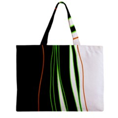 Colorful lines harmony Zipper Mini Tote Bag by Valentinaart