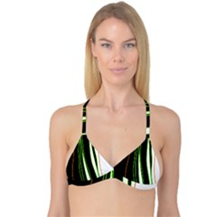 Colorful Lines Harmony Reversible Tri Bikini Top by Valentinaart