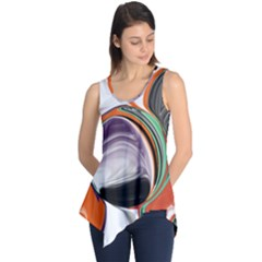 Abstract Orb Sleeveless Tunic by theunrulyartist