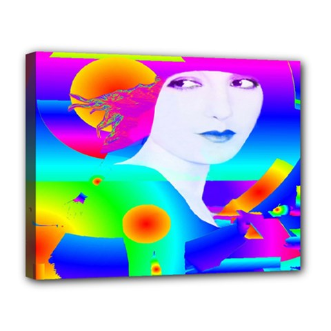 Abstract Color Dream Canvas 14  X 11  by icarusismartdesigns