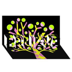 Simple colorful tree BELIEVE 3D Greeting Card (8x4) by Valentinaart