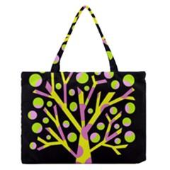 Simple Colorful Tree Medium Zipper Tote Bag by Valentinaart