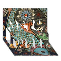 Fish Mosaic  Get Well 3D Greeting Card (7x5) by Zeze