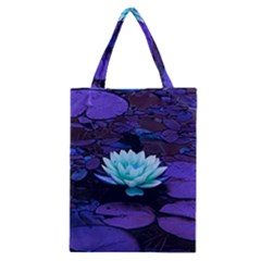 Lotus Flower Magical Colors Purple Blue Turquoise Classic Tote Bag by yoursparklingshop