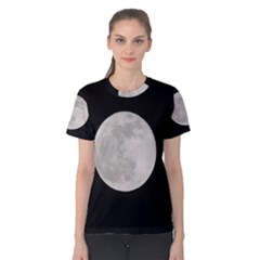 Full Moon At Night Women s Cotton Tee by picsaspassion