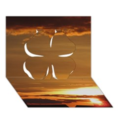 Summer Sunset Clover 3d Greeting Card (7x5) by picsaspassion