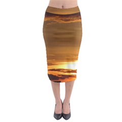 Summer Sunset Midi Pencil Skirt by picsaspassion