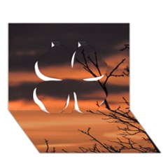 Tree Branches And Sunset Clover 3d Greeting Card (7x5) by picsaspassion