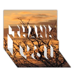 Colorful Sunset Thank You 3d Greeting Card (7x5) by picsaspassion