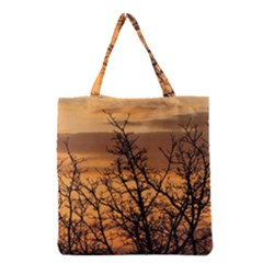Colorful Sunset Grocery Tote Bag by picsaspassion
